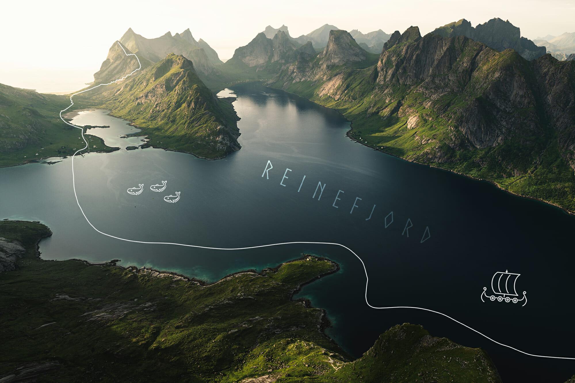 Parcours en packraft dans le Reinefjord