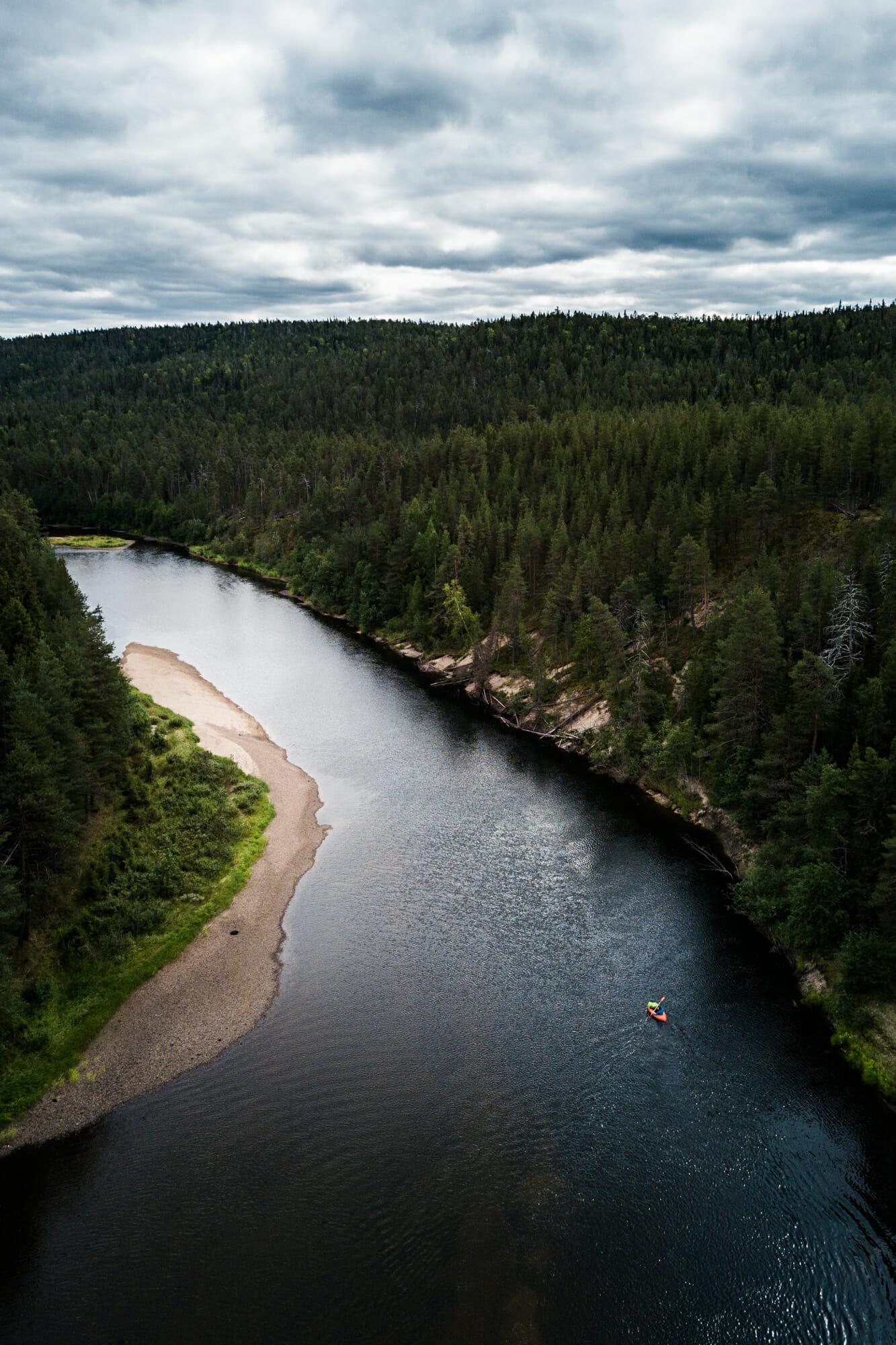 Packraft sur la rivière Oulanka - Itinéraire de 7 jours en Laponie