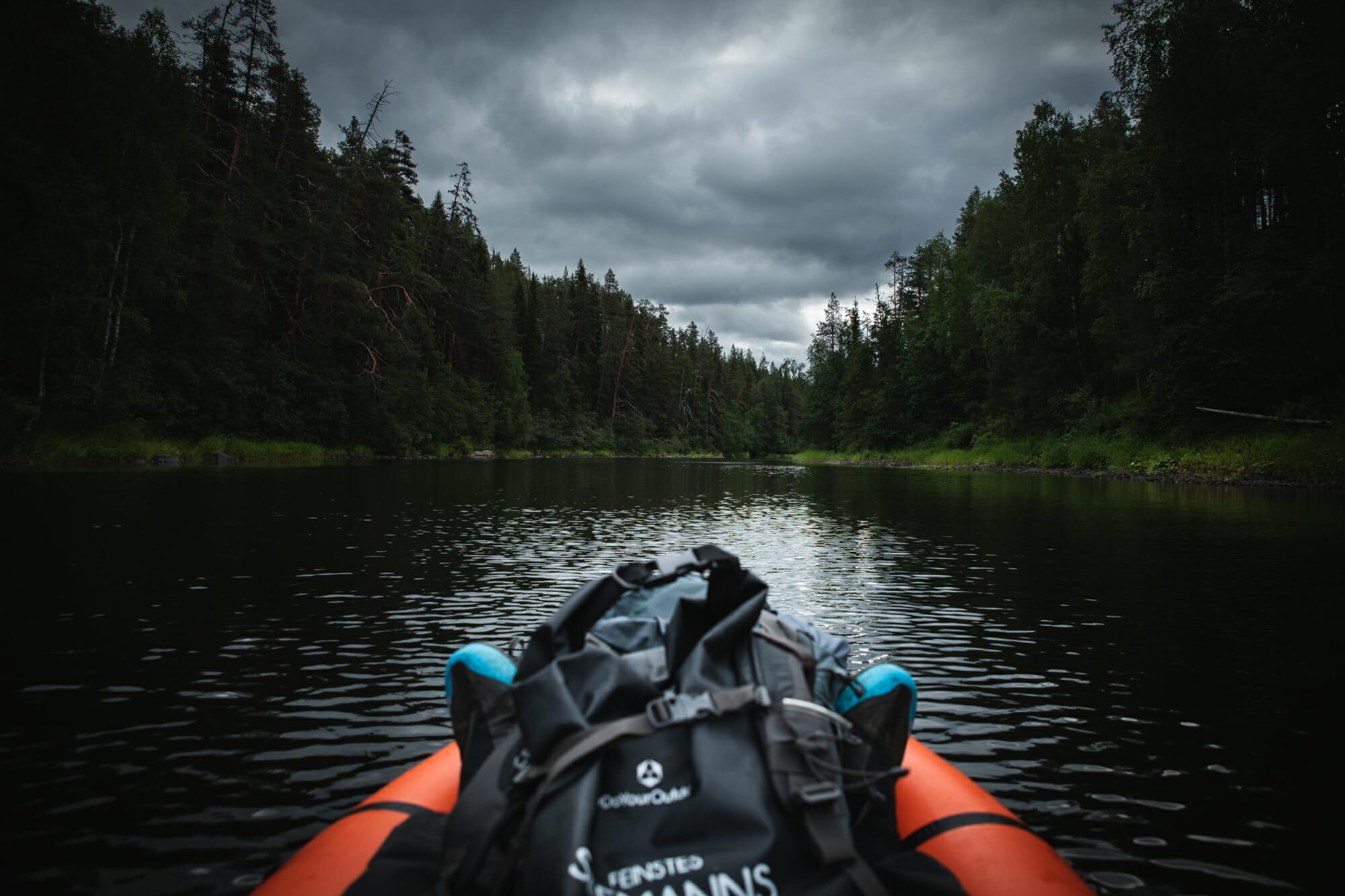 Packraft sur la rivière Oulanka - Laponie finlandaise