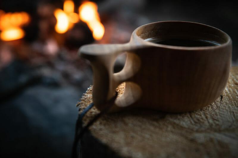 Kuksa, feu de bois, laponie finlandaise, Bivouaquer au coeur de la forêt laponne