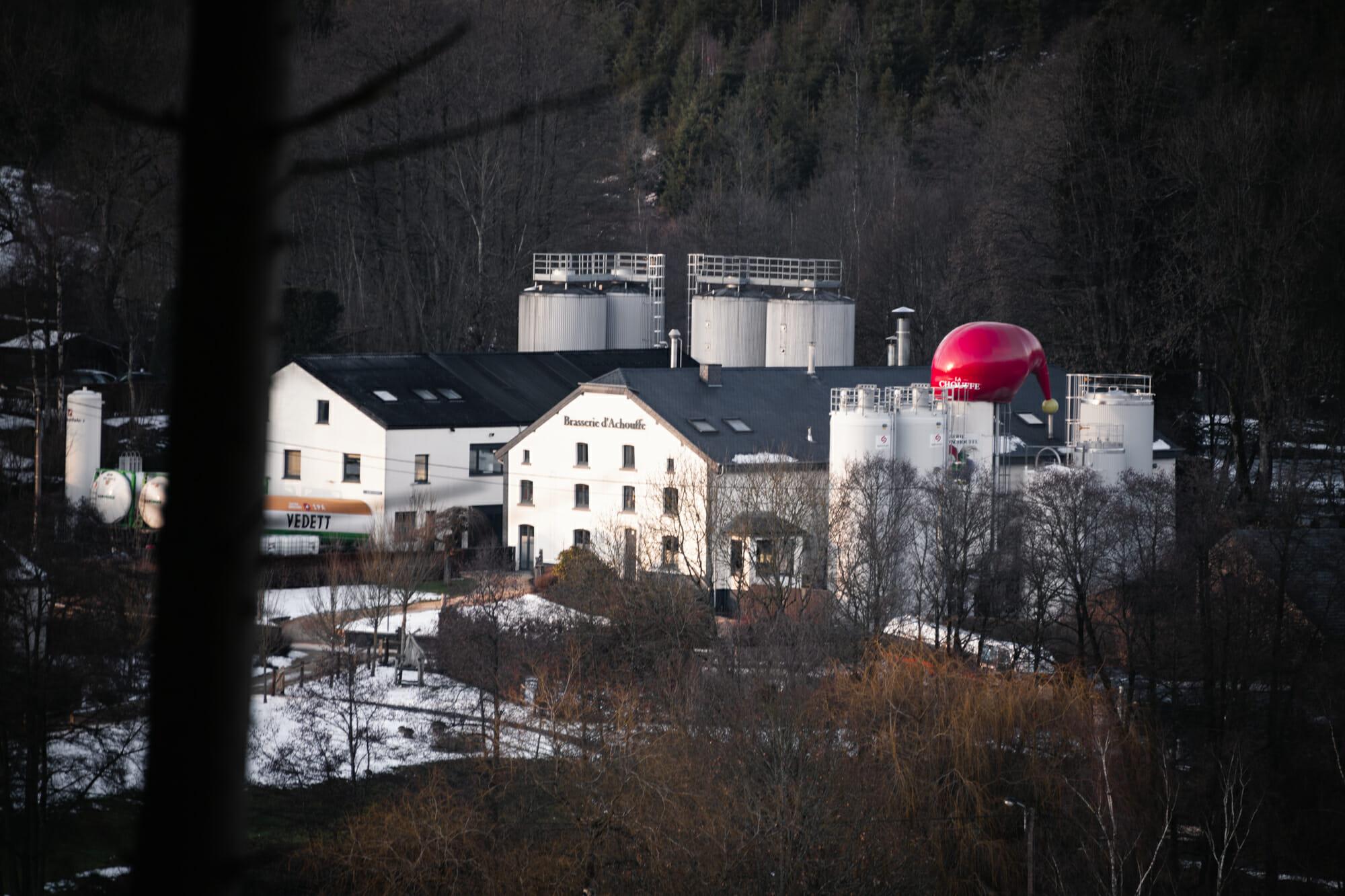 Randonnée hivernale au départ de la brasserie Chouffe