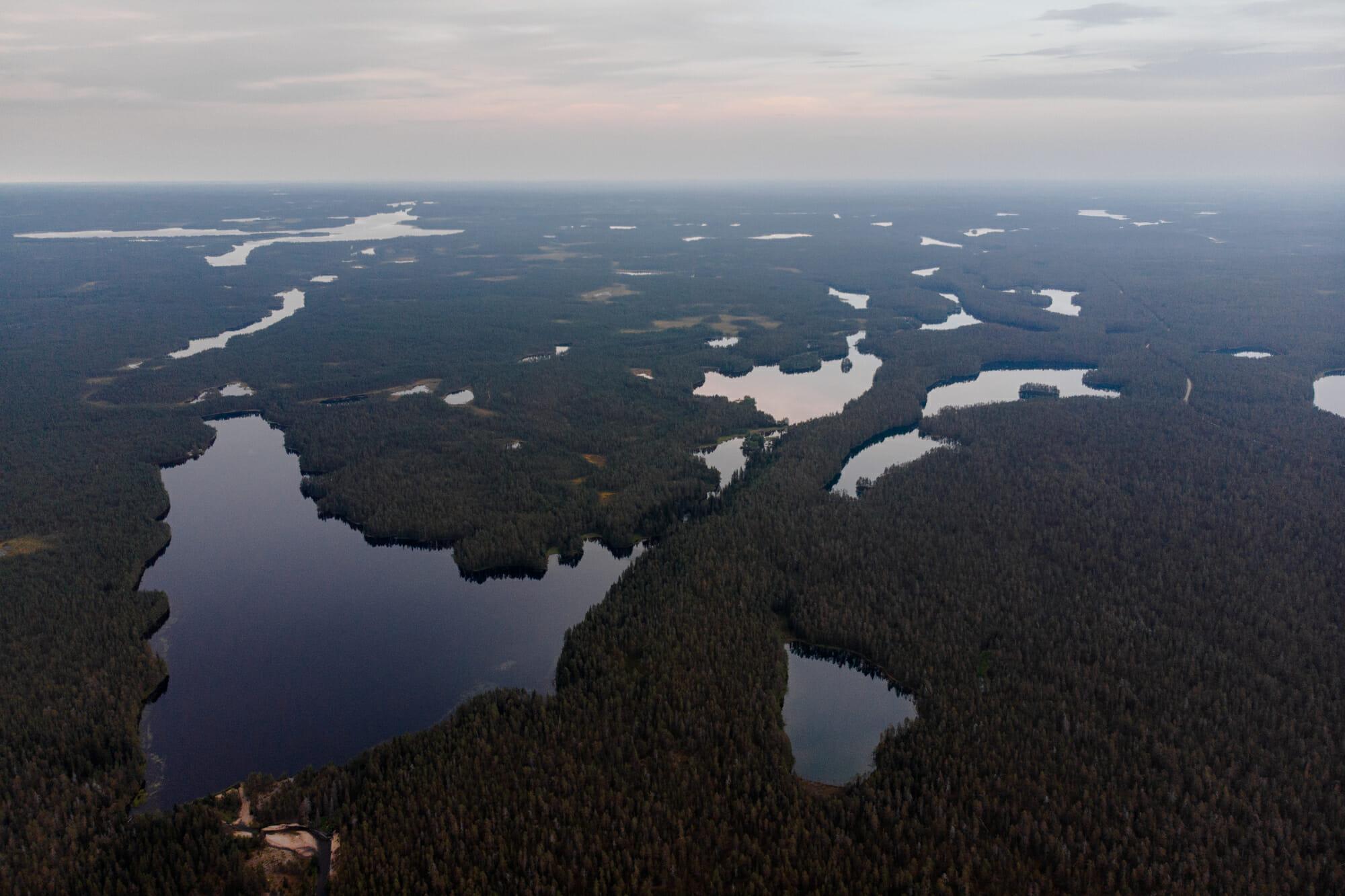 Vue sur le Parc national de Hossa en Laponie finlandaise