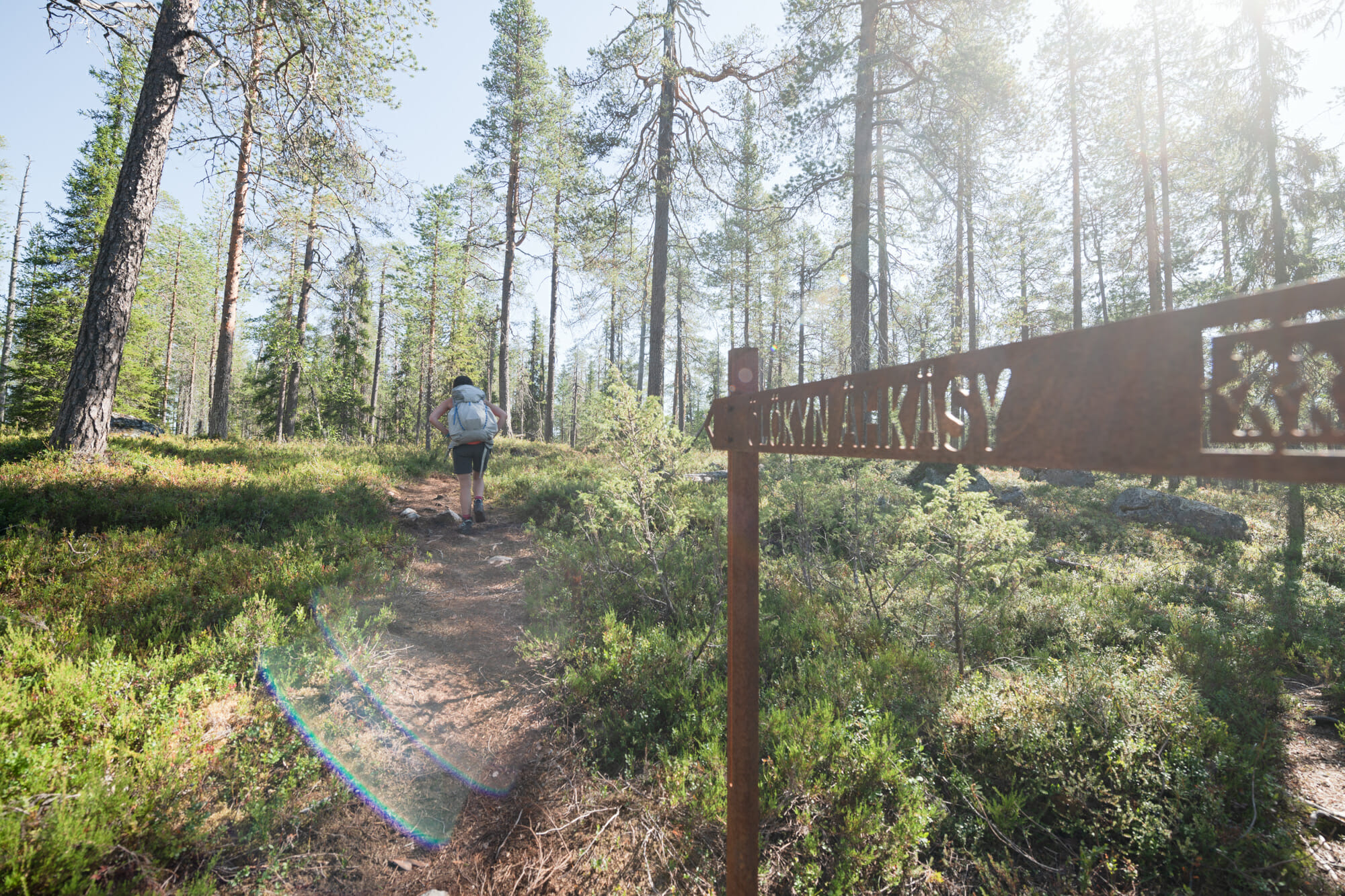 Une des deux randonnées à Hossa : Ölökyn Ähkäsy