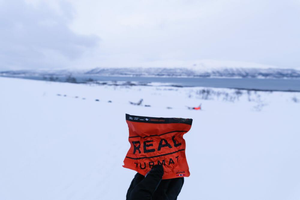 Real Turmat en Norvège du Nord, repas lyophilisé