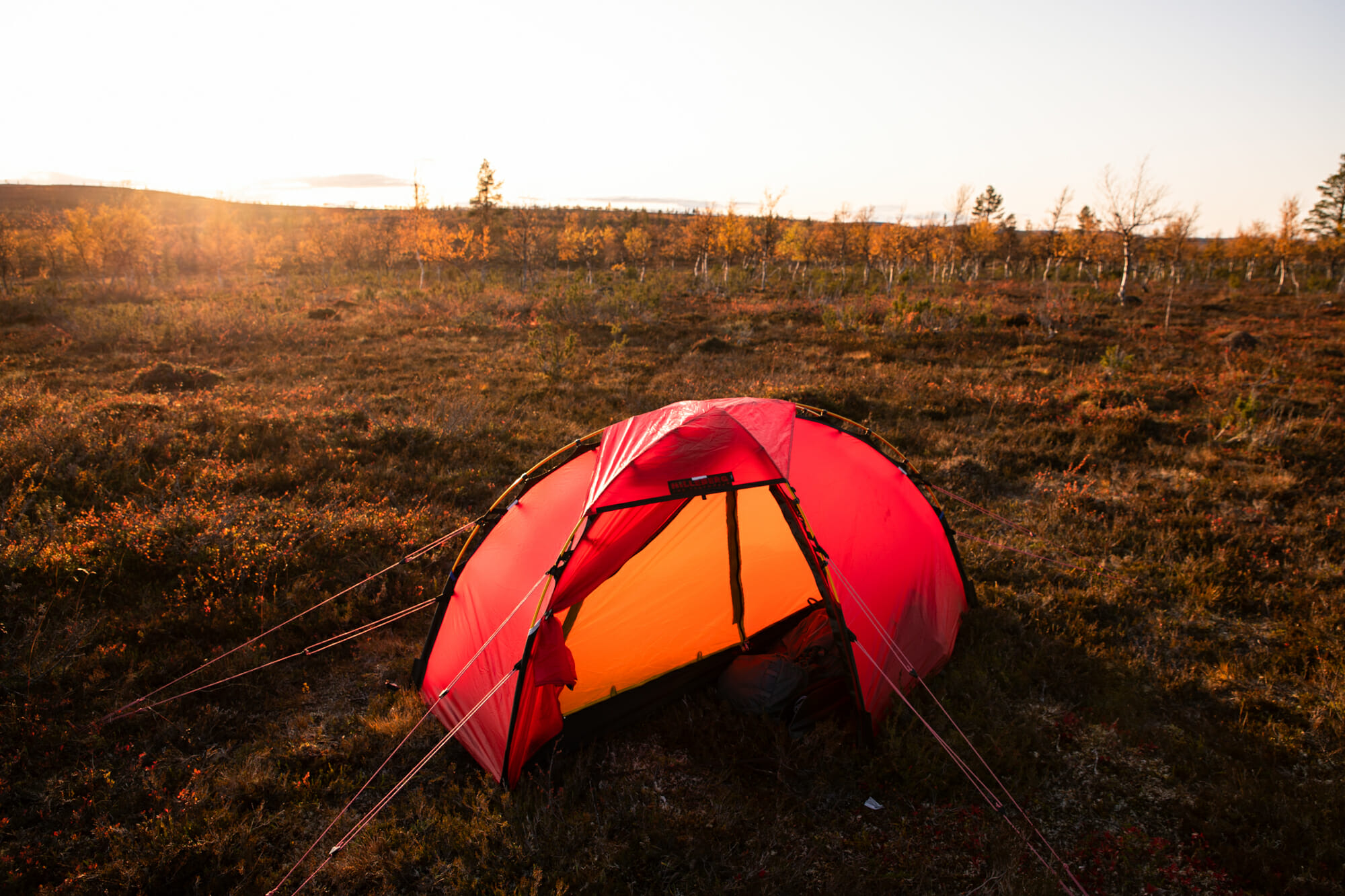 Bivouac en tente dans la zone sauvage de Hammastunturi