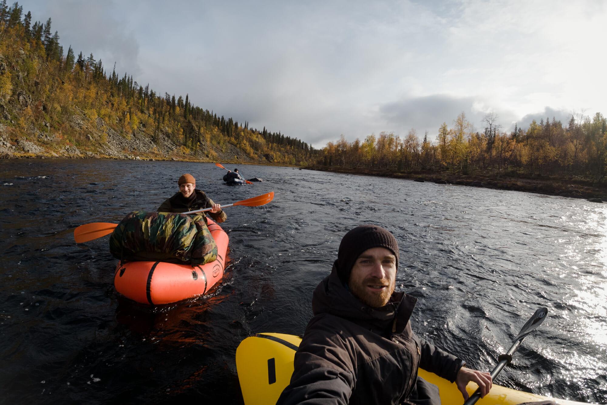 Ivalojoki en Packraft, Laponie finlandaise, Zone sauvage d'Hammastunturi