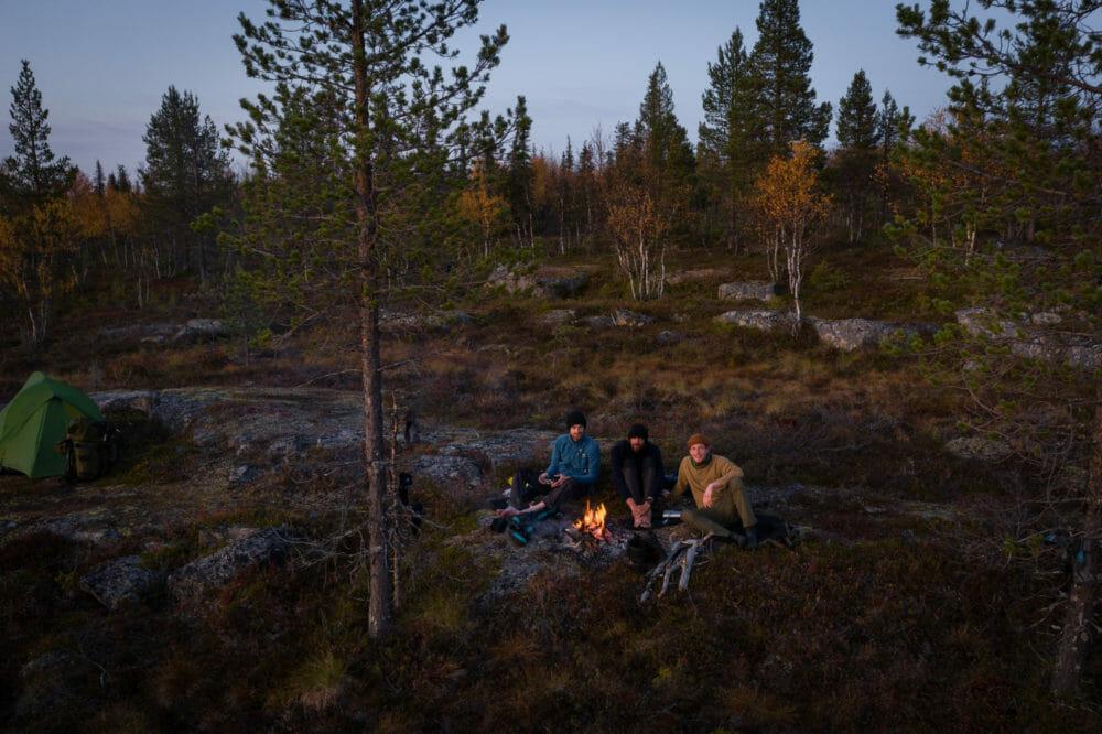 Bivouac en Laponie finlandaise