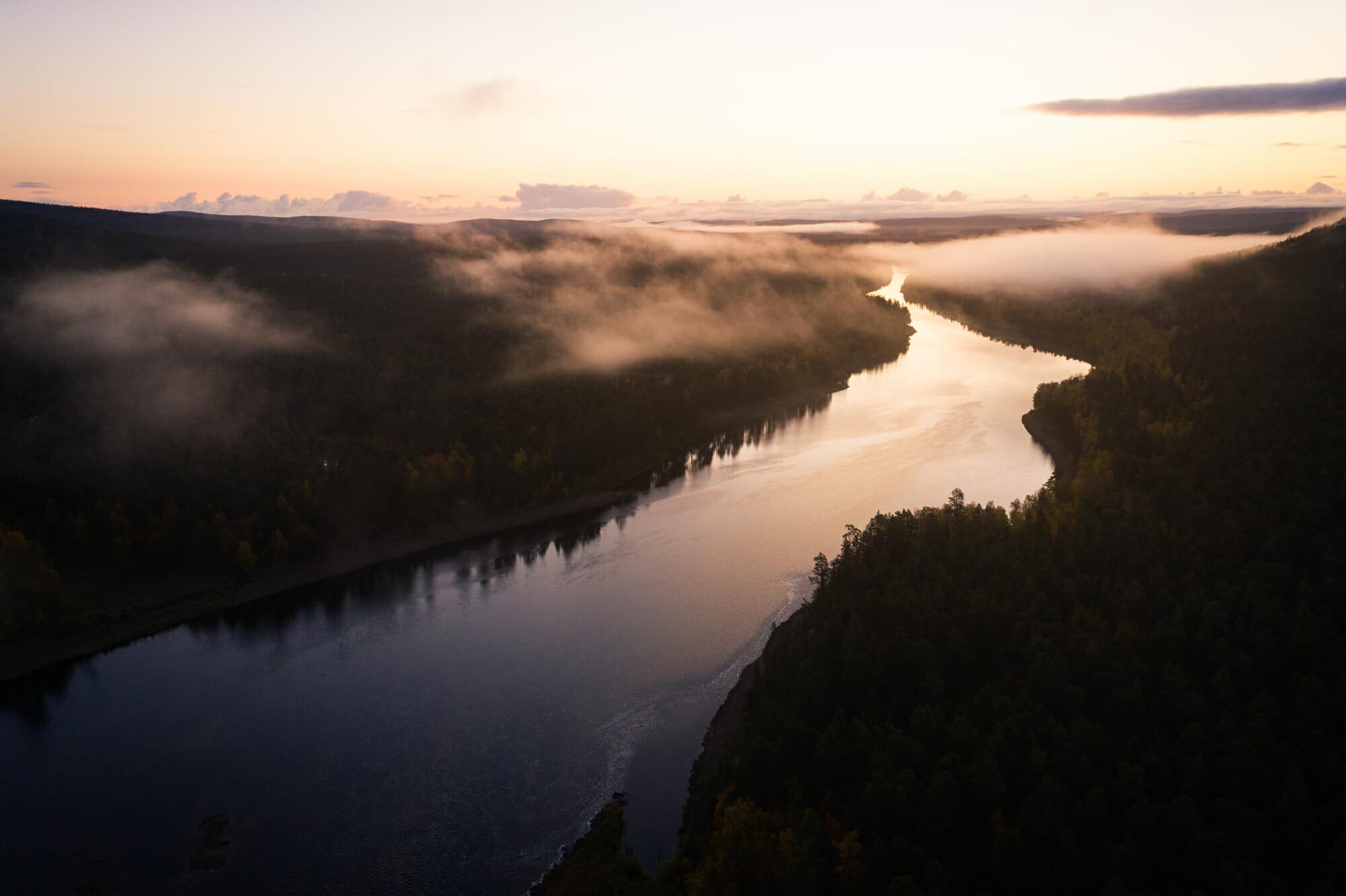 Aube sur l'Ivalojoki