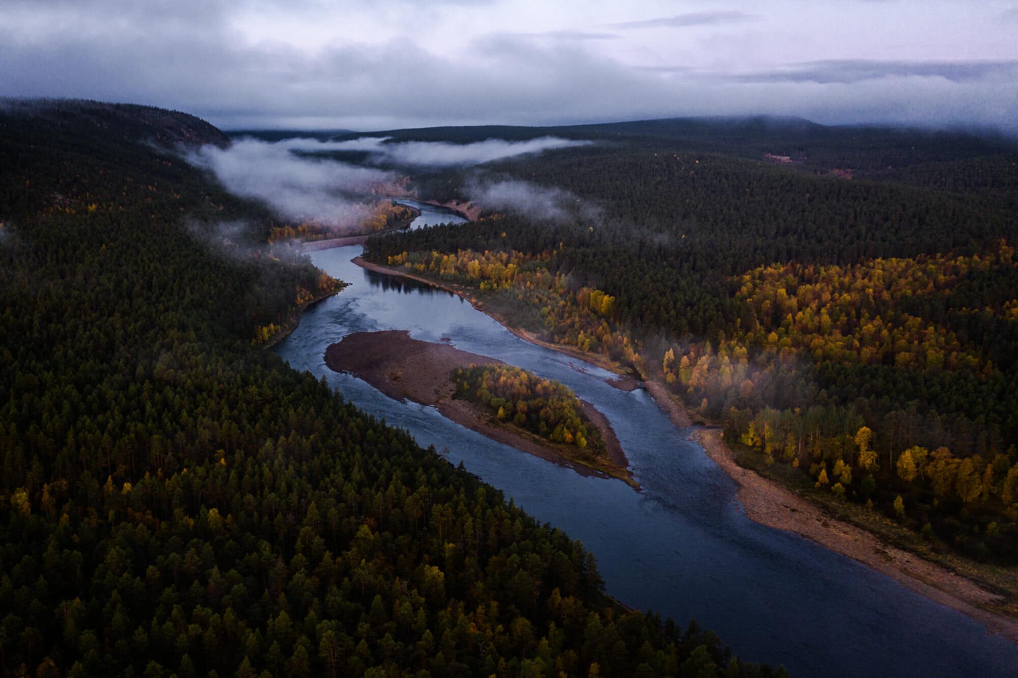 Ivalajoki en Laponie finlandaise