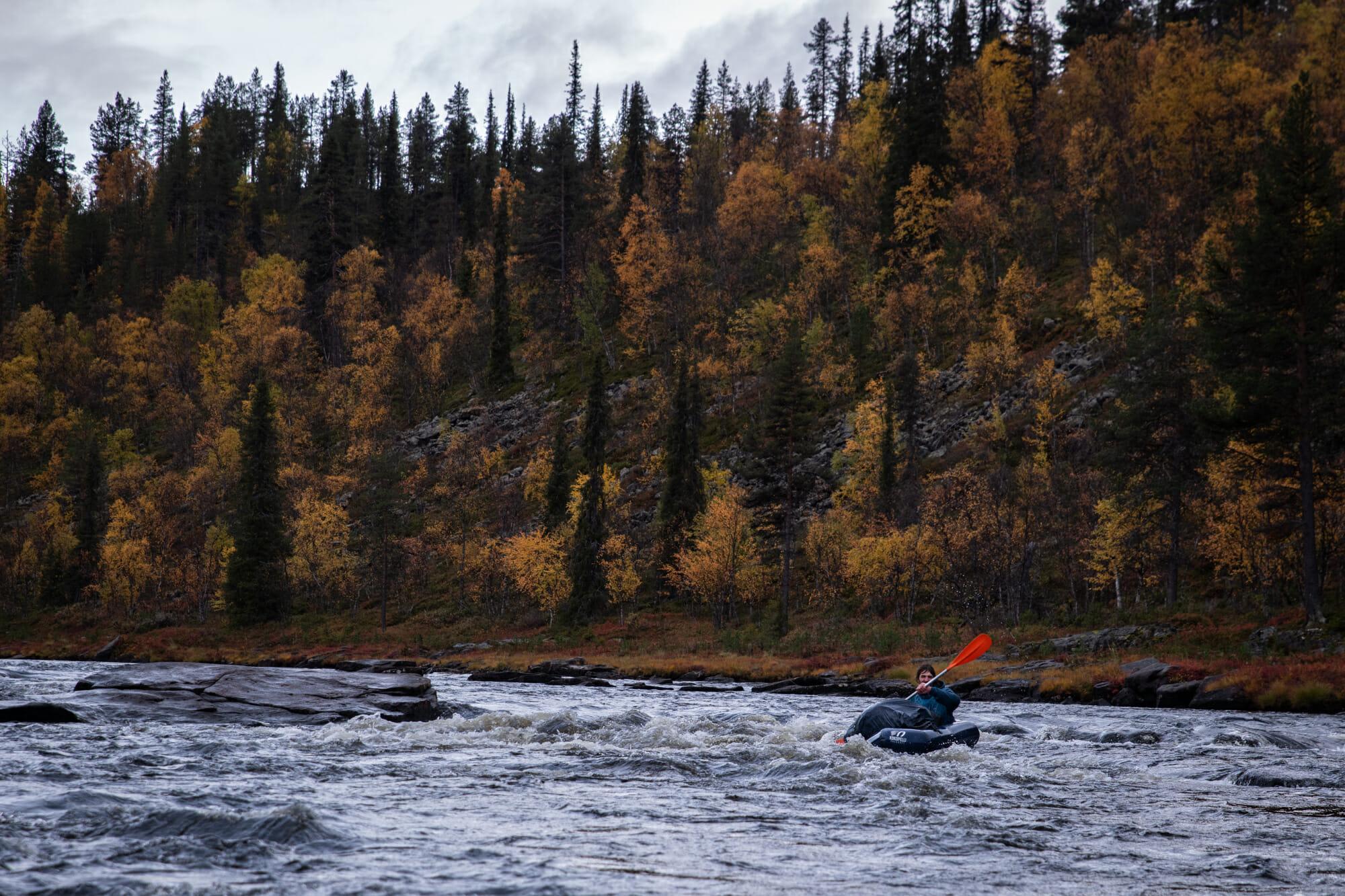 La rivière Ivalojoki en packraft