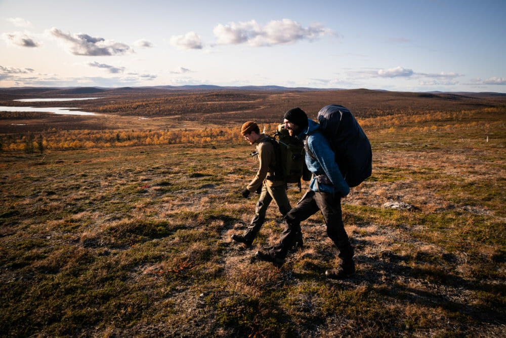 Randonneurs en Laponie