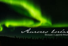 bivouac sous les aurores boréales