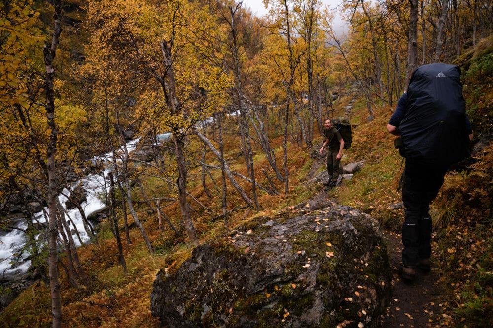 Ascension vers le glacier de Steindalen