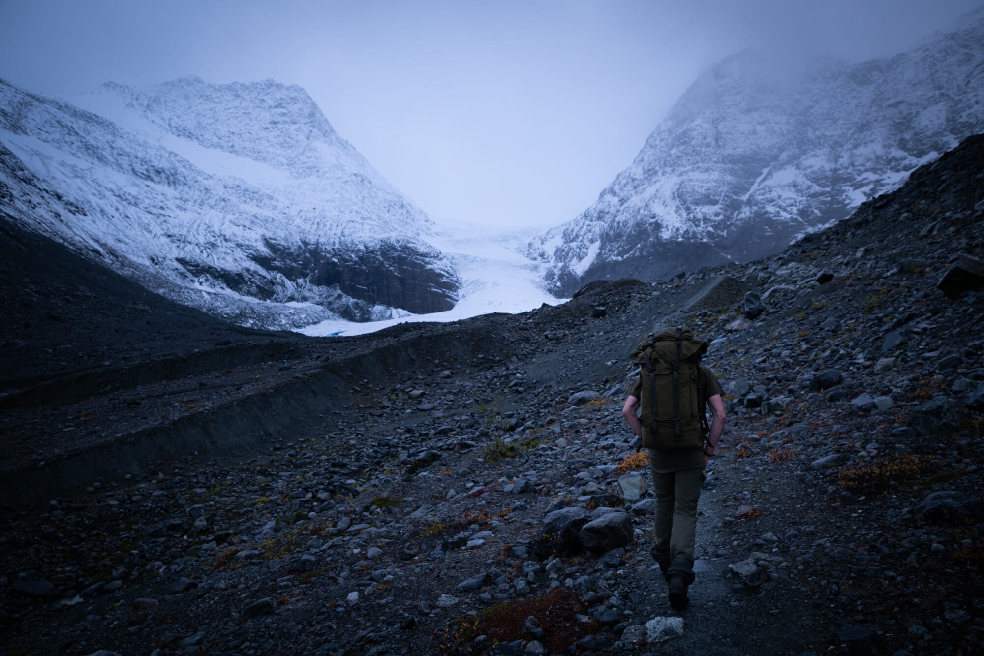 Arrivée au Glacier de Steindalen