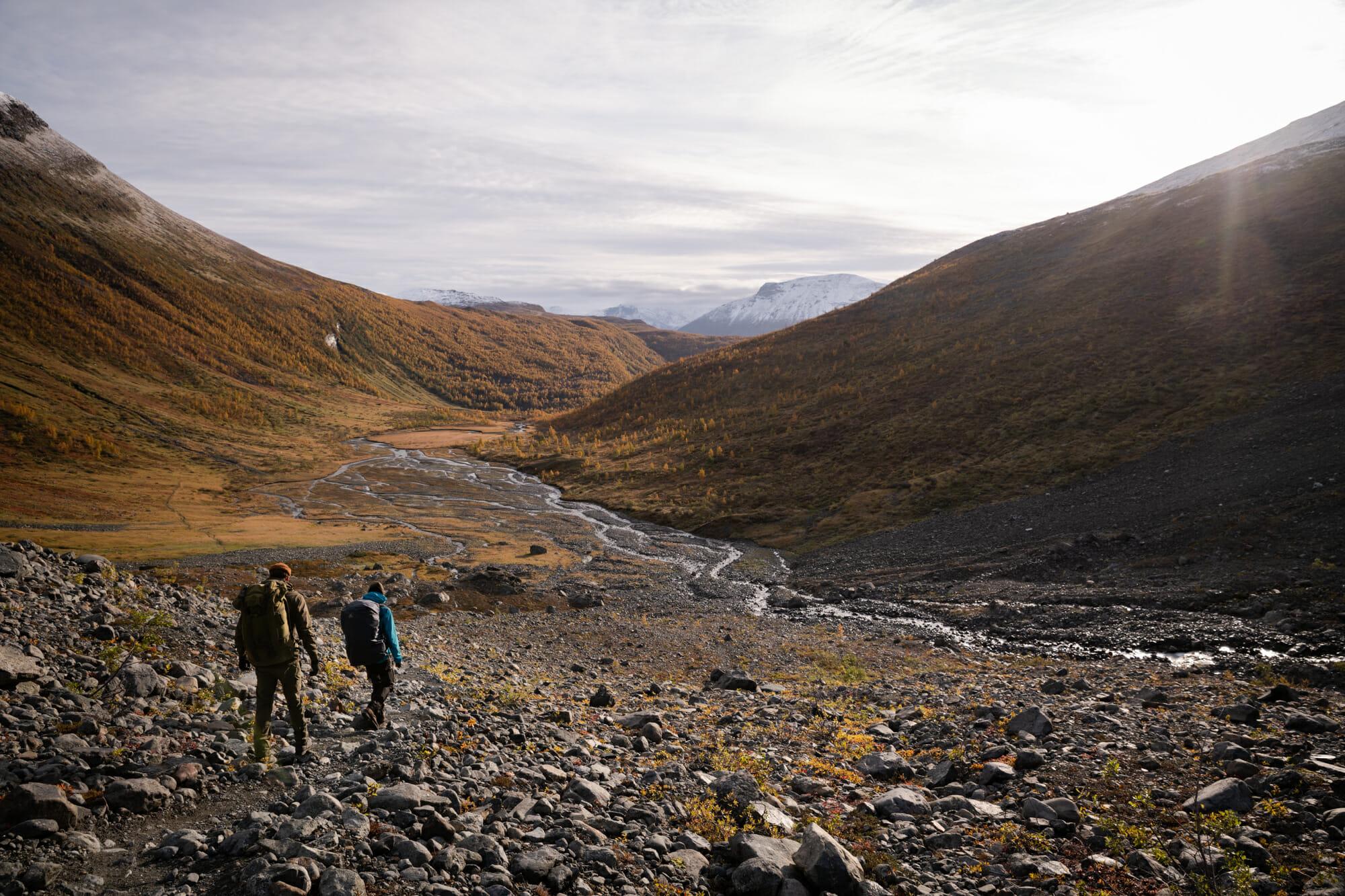 Sur la moraine du glacier de Steindalen