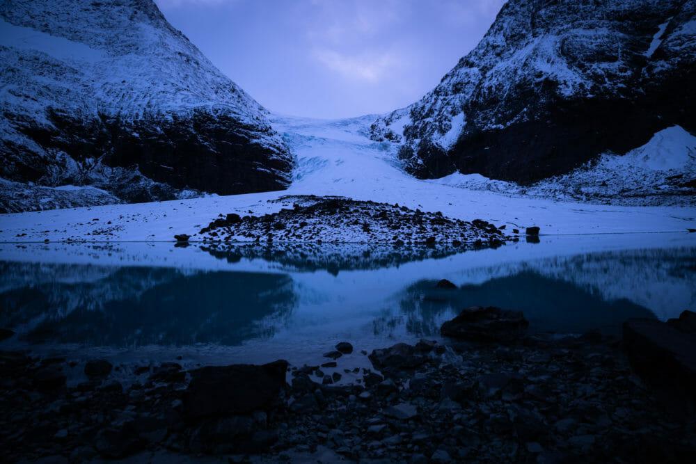 Glacier de Steindalen de nuit