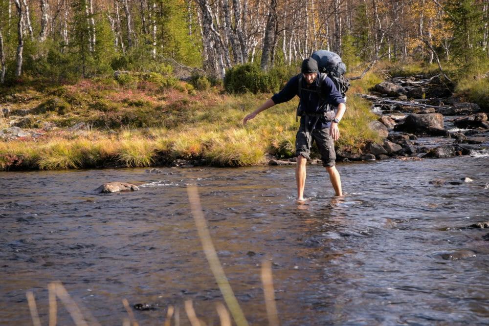 Traversée de rivière en Finlande