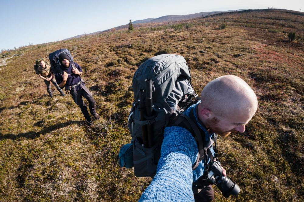 Marche en Laponie finlandaise