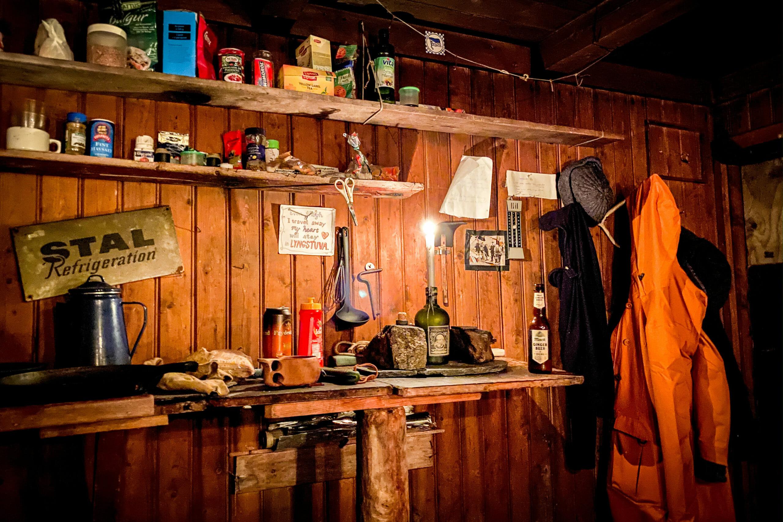 Intérieur cabane Lyngstuva