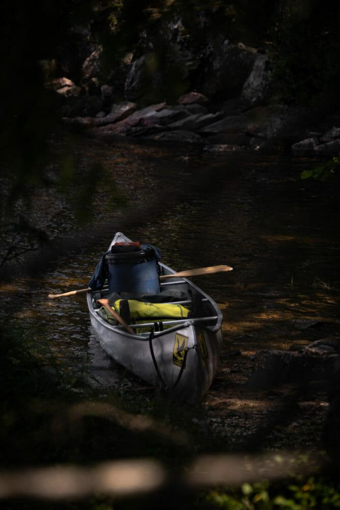 Canoë durant le Canoë Trip en Suède
