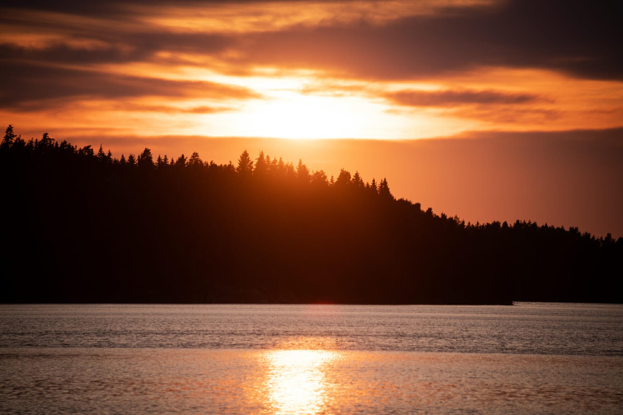 Coucher de soleil dans le Värmland