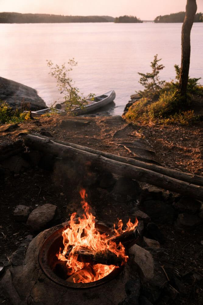 Feu de camps dans le VÄrmland